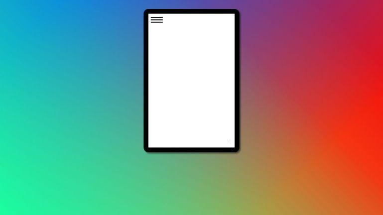mobile menu slide effect