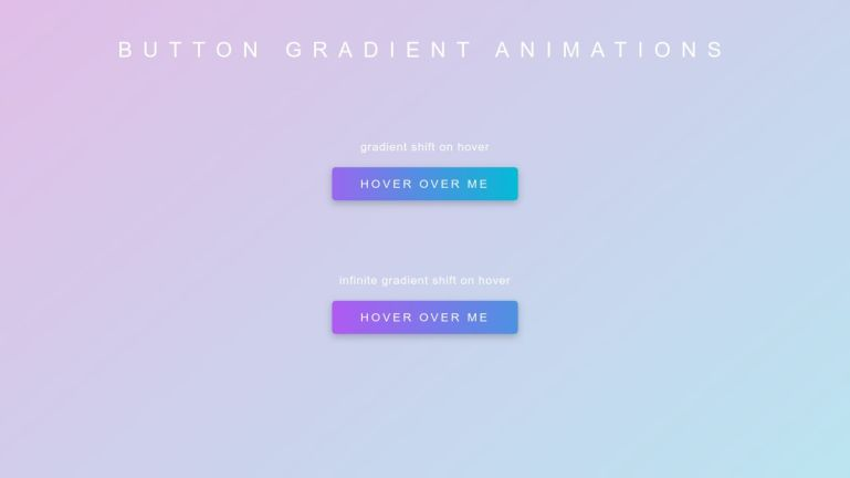 Gradient Button Animations