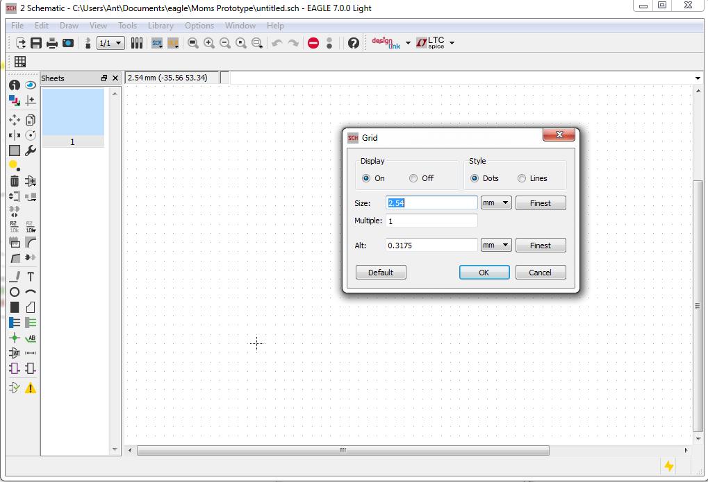 EagleCad Tutorial Grid Size Unit Setting
