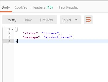REST API in Laravel with CRUD  - Response