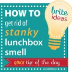 How To De-Funk A Smelly Lunch Box