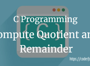 Compute Quotient Remainder