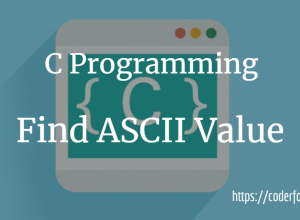 Find ASCII Value in C