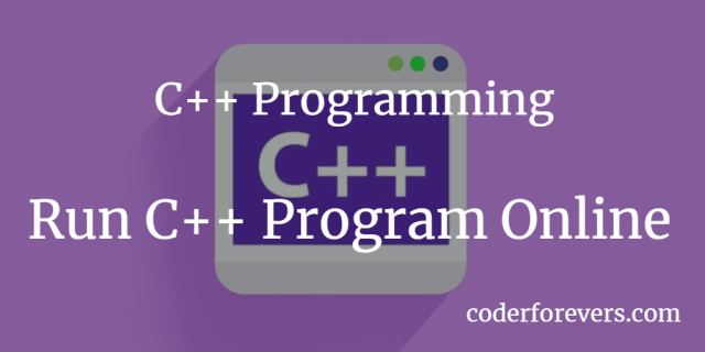 Run C++ Program Online