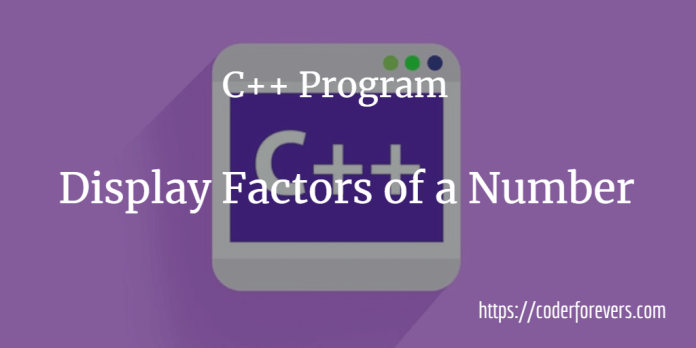 Display Factors of a Number