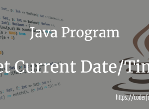 Get Current Date and Time in Java