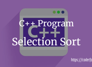 C++ Selection Sort