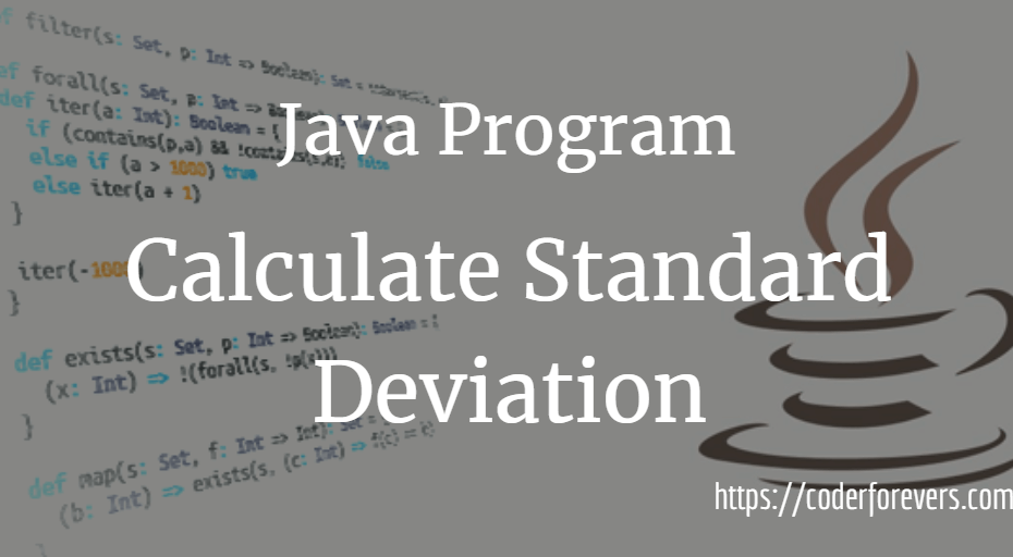 Calculate Standard Deviation