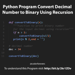 convert decimal to a binary number