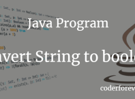 Java Program to convert String to boolean