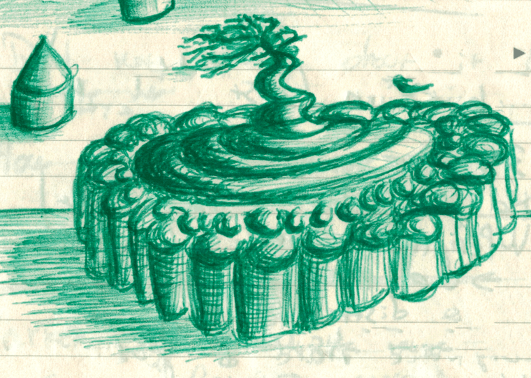 doodle-tree-green Doodle Tuesday: Green Sculptural Tree