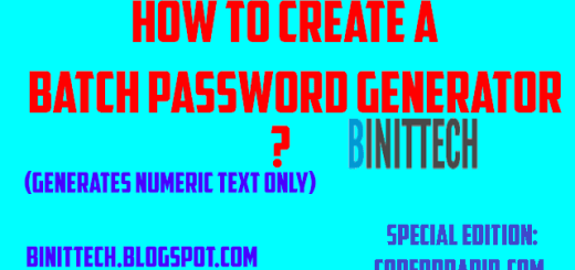 How to Create a Numeric Password Generator in Batch | Binit Ghimire