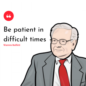 Be patient in difficult times