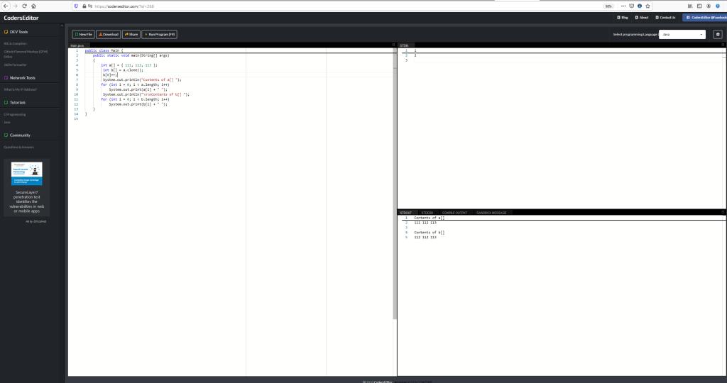 Array Basics in Java