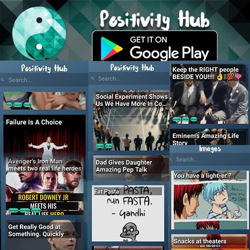 https://play.google.com/store/apps/details?id=com.pratikkataria.positivityhub