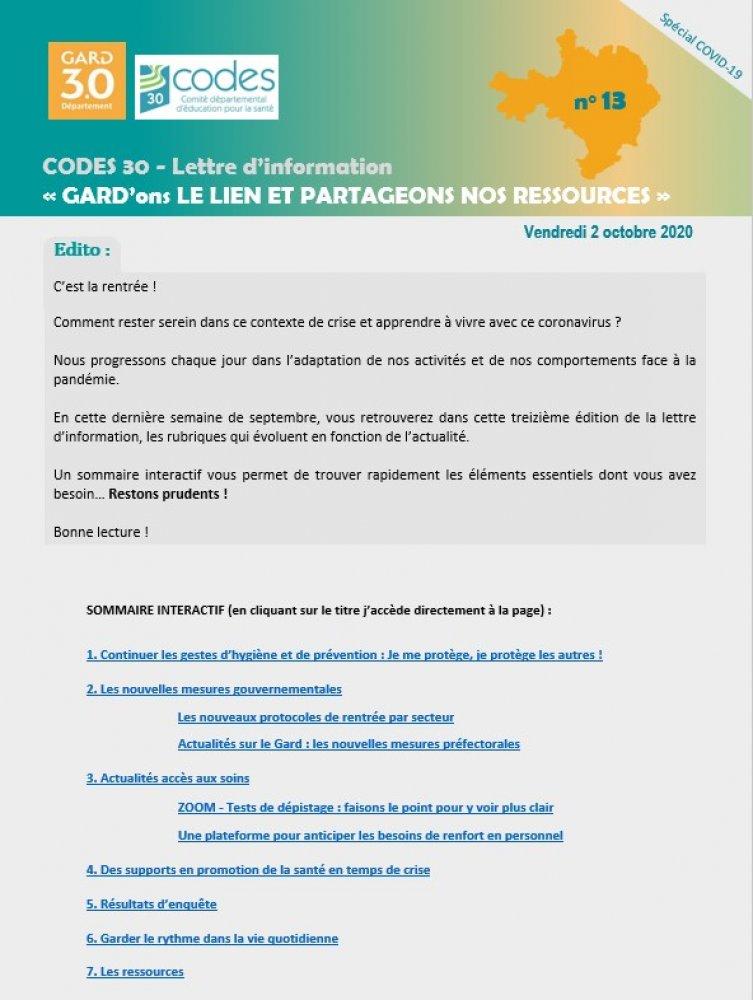 Ville Du Gard En 4 Lettres : ville, lettres, Lettre, D'information, COVID, Codes