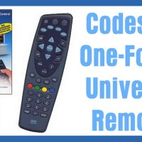 One-For-All Universal Remote Codes