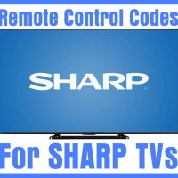 Remote Control Codes For Sharp TVs