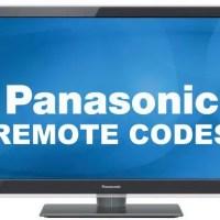 Remote Control Codes For Panasonic TVs