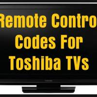 Remote Control Codes For Toshiba TVs