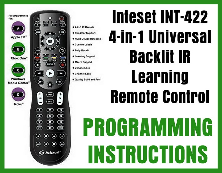 Inteset Universal Remote Control Programming Codes For Universal Remotes