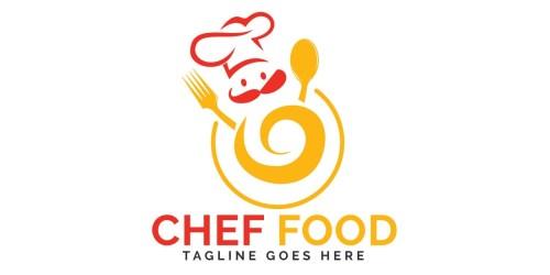 Chef Food Logo Design by IKAlvi Codester
