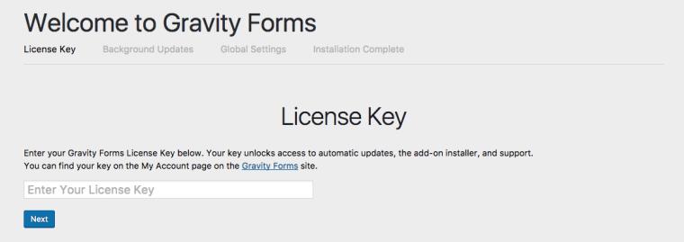 Kích hoạt key license của Gravity Forms