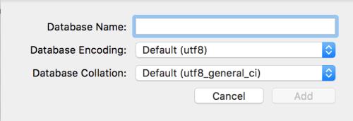 Đặt tên database trong Sequel Pro