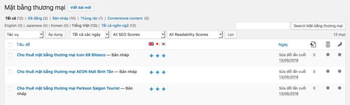 WPML cho phép dịch custom post type