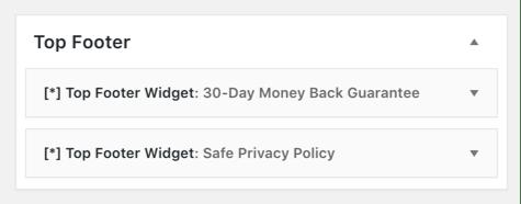 Một sidebar và các widget bên trong