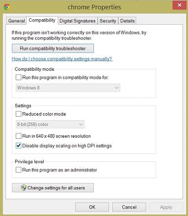 chrome-windows-8.1-blurry and Fuzzy-solution