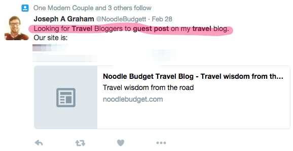 Travel blog looking for guest post