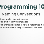 Naming Conventions in Programming