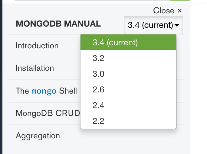 Select MongoDB Version