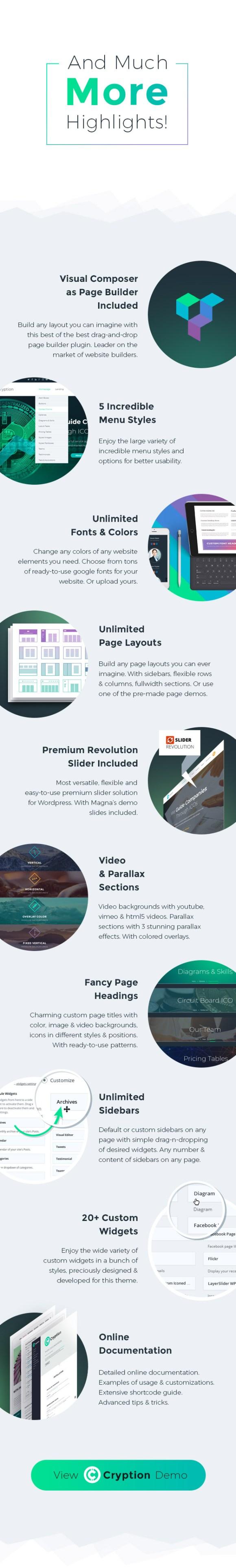 Cryption - ICO, Cryptocurrency & Blockchain WordPress Theme - 4