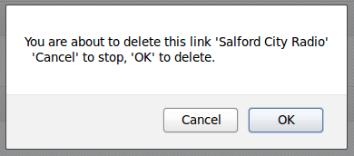 Did you really want to delete that link?