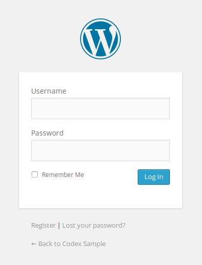 Customizing The Login Form « Wordpress Codex