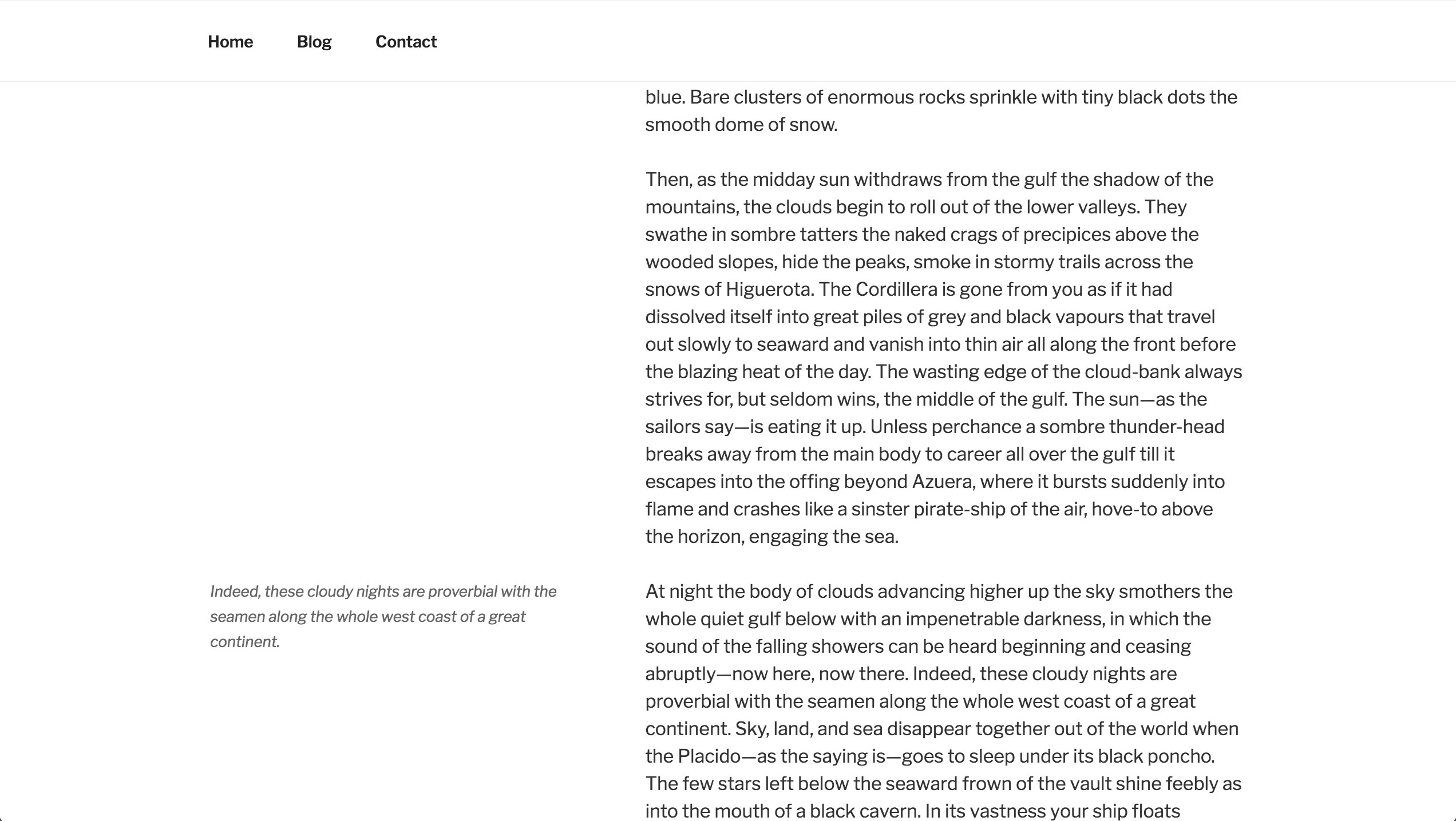 Screenshot Showing Pull Quote Outside Of Content Area For Twenty Seventeen  Theme