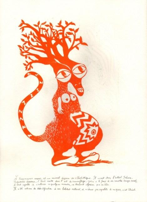 Le Similitudinem Arboris est un animal disparu du Mésolithique, il vivait dans l'actuel Sahara. Redoutable chasseur, il était maître dans l'art du camouflage : grâce à la force de ses muscles triceps surals, il était capable de s'enterrer en quelques minutes, ne laissant dépasser que sa tête. Il a été victime de la désertification de son habitat naturel, et, n'étant pas capable de migrer, s'est éteint.