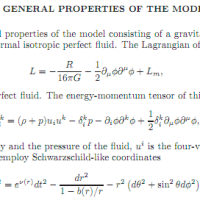 General Properties of the Model