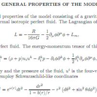 General Properties of the Model