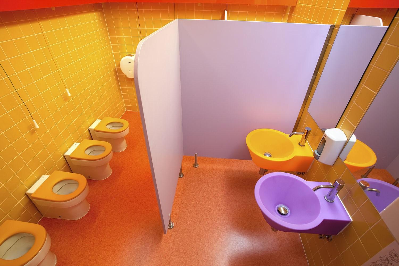 Projeto design de interiores, sanitários infantis Porto (Portugal). CódigoDesign