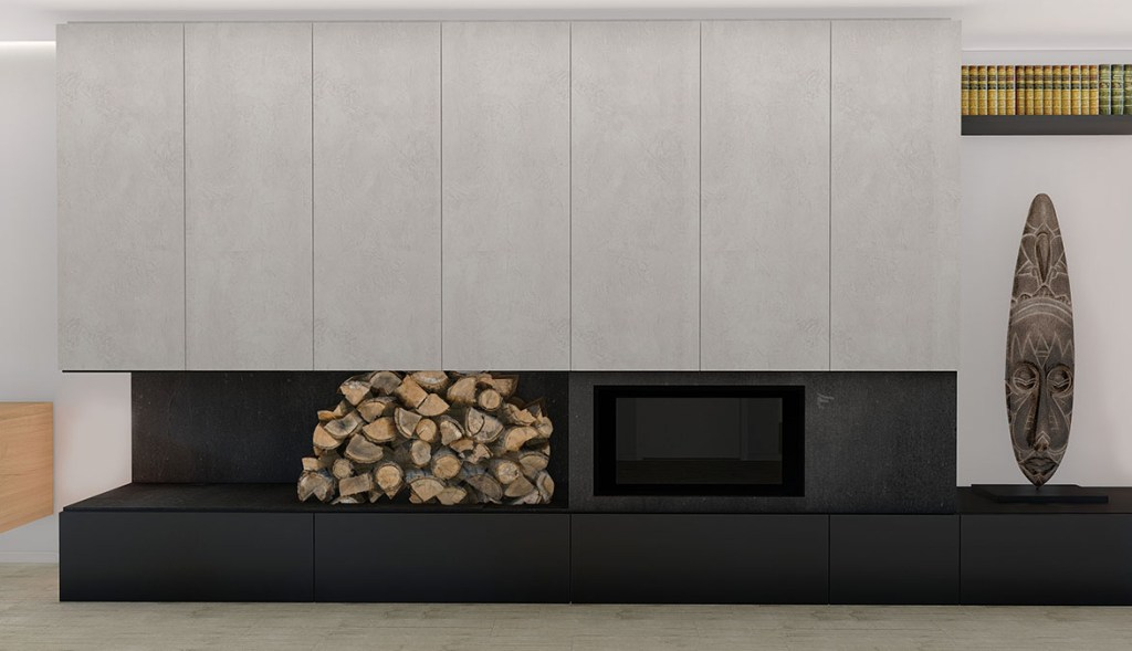 Projeto design de Interiores de uma moradia em Évora, no aconchego da lareira