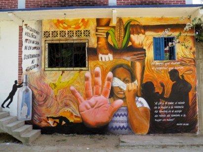 Pedro Tapia's mural in CODIGODH office