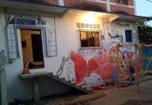 Pedro Tapia's mural in process