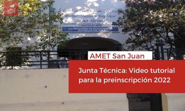<h6>AMET San Juan</h6><h1>Junta Técnica: Video tutorial para la preinscripción 2022</h1>