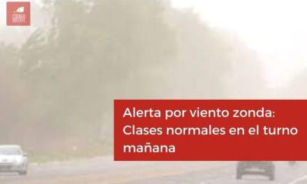 Alerta por viento zonda: Clases normales en el turno mañana