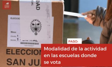 PASO: modalidad de la actividad en las escuelas donde se vota