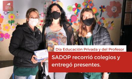En el día de los profesores SADOP entregó presentes en los colegios privados