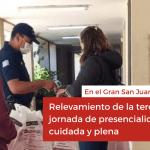Relevamiento de la tercera jornada de presencialidad cuidada y plena en el Gran San Juan